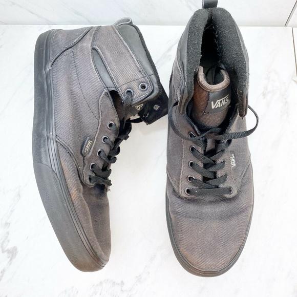 Vans Tb4r Black High Top Sneakers Shoes